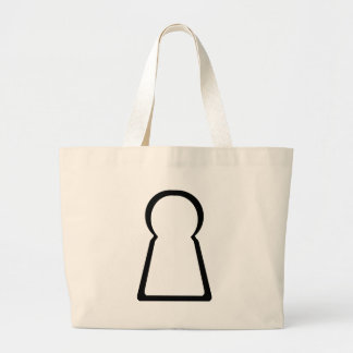 Keyhole-Hollow Large Tote Bag