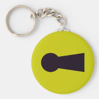 Keyhole Basic Round Button Keychain