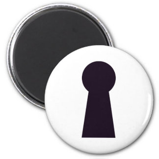 Keyhole 2 Inch Round Magnet