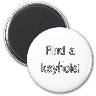 Keyhole 2 Inch Round Magnet