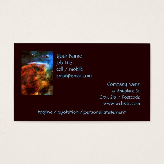 Keyhole Nebula and Digitus Impudicus Business Card