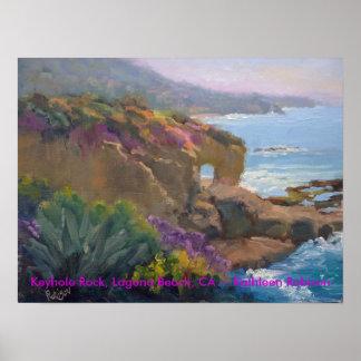Keyhole Rock, Laguna Beach, CA ~ Kathleen Robison Poster