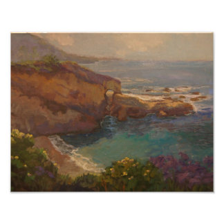 """Keyhole Rock"" Seascape by Rachel Uchizono Posters"