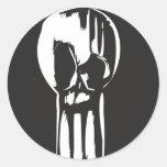 Keyhole Skull Classic Round Sticker