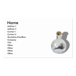 KeyInBottle062710Shadows, Name, Address 1, Addr... Double-Sided Standard Business Cards (Pack Of 100)