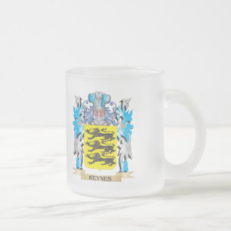 Keynes Coat of Arms - Family Crest 10 Oz Frosted Glass Coffee Mug