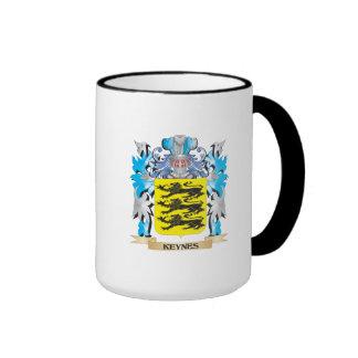 Keynes Coat of Arms - Family Crest Ringer Coffee Mug