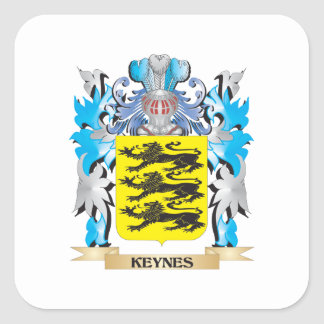 Keynes Coat of Arms - Family Crest Square Sticker