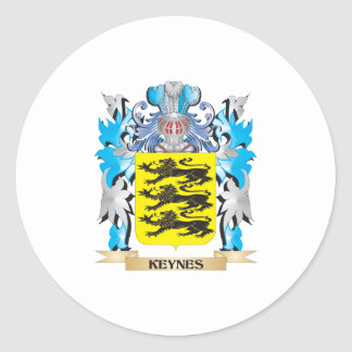Keynes Coat of Arms - Family Crest Stickers