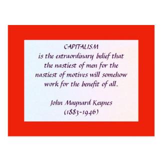 KEYNES on CAPITALISM postcard