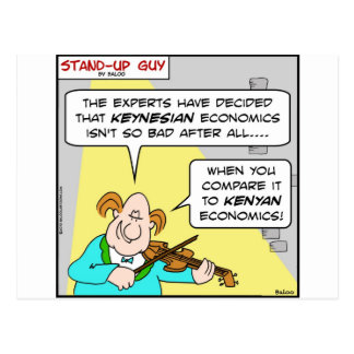 keynesian kenyan economics obama postcard