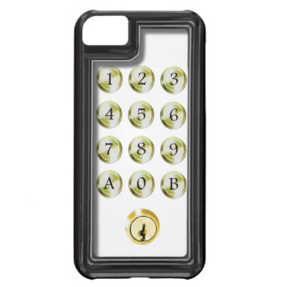 Keypad and lock iPhone 5C covers
