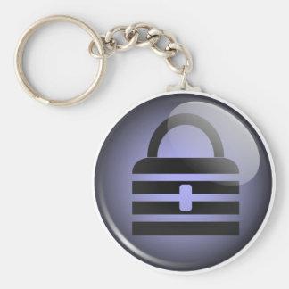 Keypass Button Symbol Basic Round Button Keychain