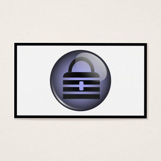 Keypass Button Symbol Business Card