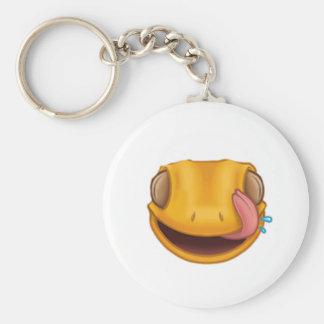 keyring basic round button keychain
