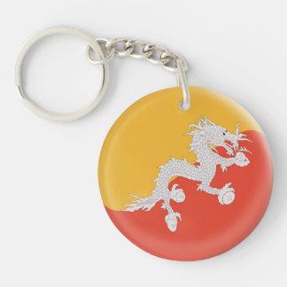Keyring Bhutan flag Single-Sided Round Acrylic Keychain