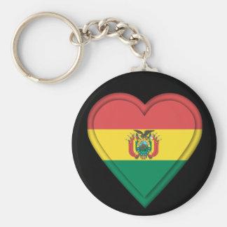Keyring - Bolivia Bolivian flag Basic Round Button Keychain