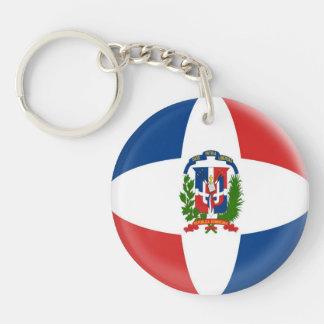 Keyring Denmark Dominican Republic Flag Keychain