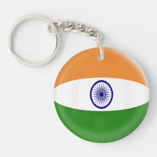 Keyring India flag Single-Sided Round Acrylic Keychain