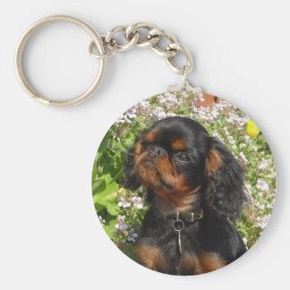 Keyring : King charles spaniel / English toy dog