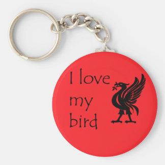 Keyring - Liverpool Liverbird Basic Round Button Keychain