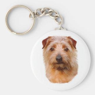 Keyring : Norfolk Terrier Basic Round Button Keychain