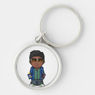 Keyring Silver-Colored Round Keychain