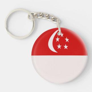 Keyring Singapore Singaporean flag Single-Sided Round Acrylic Keychain