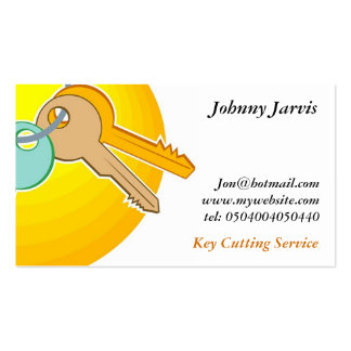 Keys Double-Sided Standard Business Cards (Pack Of 100)