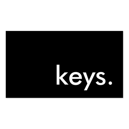 keys. business card template