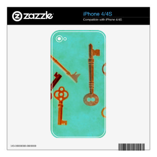 Keys Decal For iPhone 4