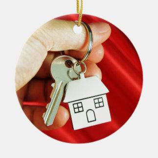Keys for a new home! ceramic ornament