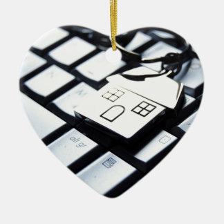 Keys for a new house ceramic ornament