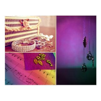 Keys-locks postcard