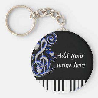 Key's Lof Love_ Basic Round Button Keychain