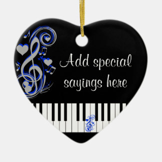 Key's Lof Love_ Ceramic Ornament