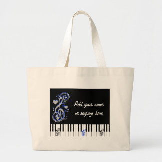 Key's Lof Love_ Large Tote Bag