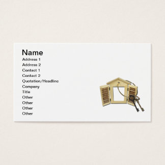 Keys on Shuttered Window Business Card