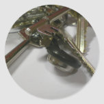 Keys Round Sticker