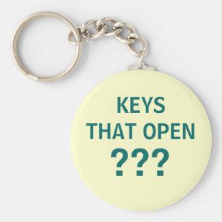KEYS THAT OPEN ??? - keychain for useless keys