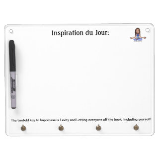 Keys to Happiness Dry Erase Board With Keychain Holder