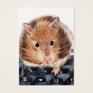 Keys to My Heart (Hamster) ACEO Art Trading Cards