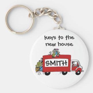keys to new house, garage, storage basic round button keychain