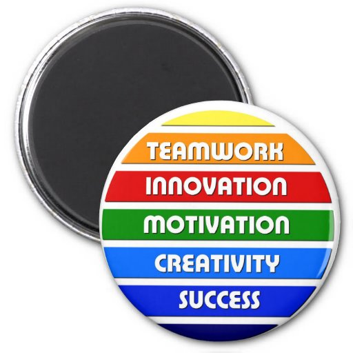 Keys To Success 2 Inch Round Magnet