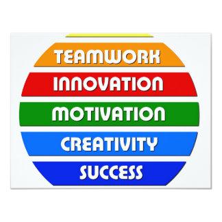 Keys To Success 4.25x5.5 Paper Invitation Card