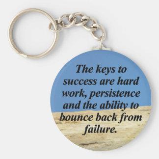 Keys to Success Basic Round Button Keychain