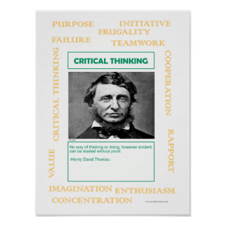 Keys to Success:  Critical Thinking Poster