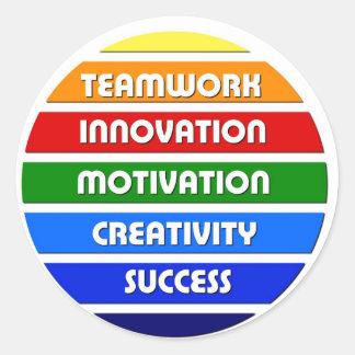 Keys To Success Classic Round Sticker