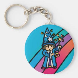 keys to the caldron. basic round button keychain