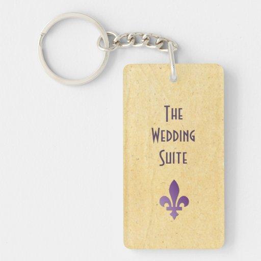 Keys To The Wedding Suite Door Keychain Rectangular Acrylic Keychains